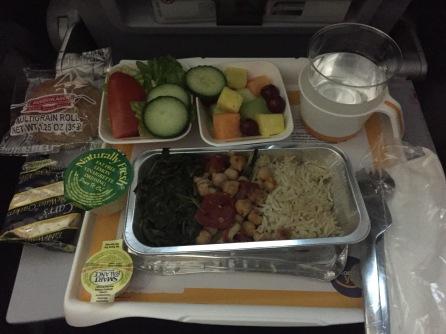 Dinner en route to Greece